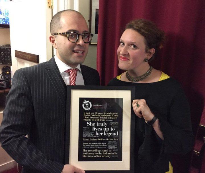 UK Critics Circle present Lifetime Achievement Award to Zuzana